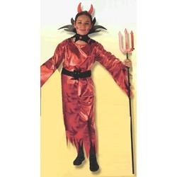 Disfraz Diablesa con cuernos (4 a 6 años)