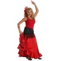 Falda Rociera Roja (Adulto)