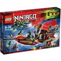 El vuelo final del barco de asalto ninja Lego Ninjago