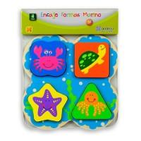CHUNKY FLAT PUZZLES - 3 mod. - SEA