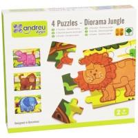 4 PUZZLE - DIORAMA - 2 mod. - JUNGLE