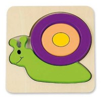 BABY PUZZLE - 6 mod. - SNAIL