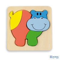 BABY PUZZLE - 6 mod. - HIPPO