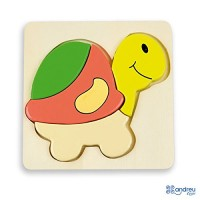 BABY PUZZLE - 6 mod. - TURTLE