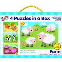 4 PUZZLES GRANJA - 4, 6, 8 y 12 piezas