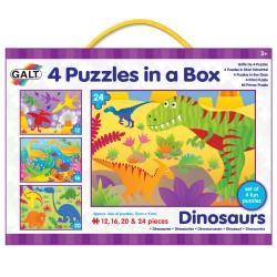 4 PUZZLES DINOSAURIOS - 12, 16, 20 & 24 piezas