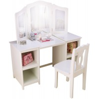 Deluxe Vanity & Chair White