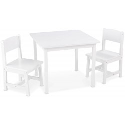 Aspen Table & 2 Chairs - White