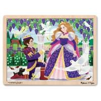 Melissa & Doug - Puzzle de Princesas 24 piezas