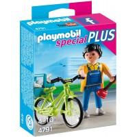 Fontanero con bicicleta (4791)