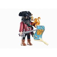 Capitán Pirata con mono y mapa (6433)