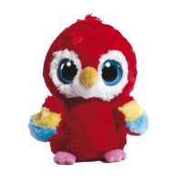Peluche Scarlet Macaw, 13 cm, color rojo