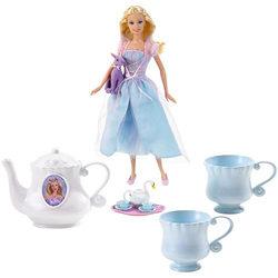Barbie como Odette Fiesta de Princesas + Juego de té