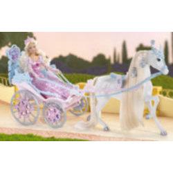 Barbie Carroza de Princesas + Cenicienta